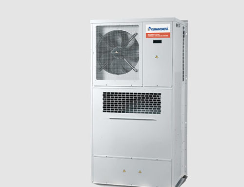 MED All-in One airconditioners voor buitenopstelling met freecooling en on-off compressor.